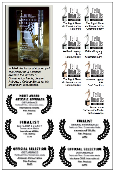 Conservation Media's recent awards.
