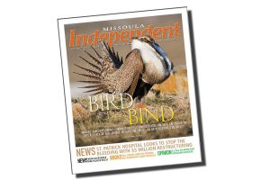 Conservation Media's sage-grouse photo brings life to the cover of the Missoula Independent