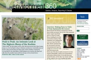 YALE UNIVERSITY's e360 Honors Conservation Media!