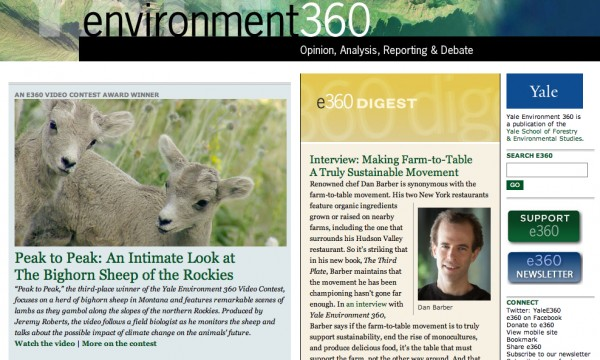 Conservation Media showcased by Yale360