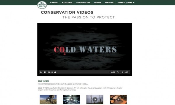 R.L. Winston Rod Company posts Conservation Media production on their website!